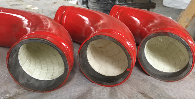 alumina ceramic lining lined pipe